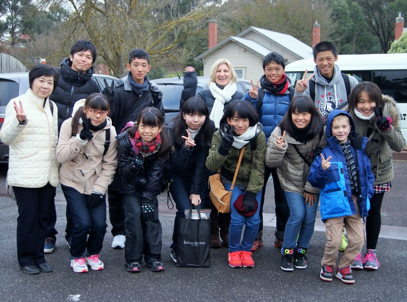 Our Japanese visitors.